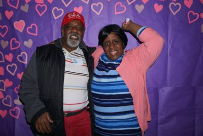 Couple at a themed party