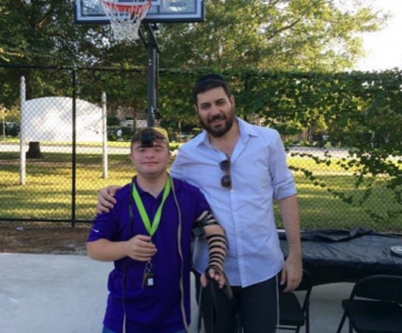 Randy Kersh with Rabbi